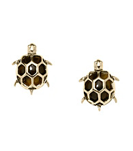 Fossil® Tortoise Turtle Stud Earrings