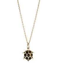Fossil® Tortoise Turtle Pendant Necklace