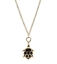 Fossil® Large Convertible Tortoise Turtle Pendant Necklace and Toggle Closure