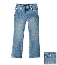 Levi's® Girls' 2-6X Medium Wash Glitter Flare Jeans