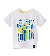 DKNY® Boys' 2T-20 White Short Sleeve Space Builder Tee