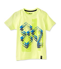 DKNY® Boys' 2T-20 Lime Short Sleeve Elevation Tee