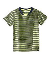DKNY® Boys' 4-20 Lime/Navy Short Sleeve Glider Tee