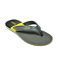 Izod® Men's Gray/Yellow Color Block Flip Flop Sandals