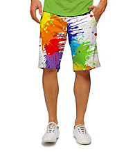 Loudmouth® Men's Drop Cloth Splatter Pant Print Golf Short