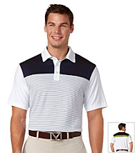 Callaway® Men's Peacoat Short Sleeve Feedstripe Block Polo