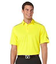 Callaway® Men's Blazing Yellow Short Sleeve Polo with Chevron Print