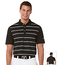 Callaway® Men's Caviar Short Sleeve Printed Striped Polo w/ Vent