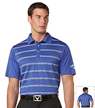 Callaway® Men's Deep Ultra Short Sleeve Printed Striped Polo w/ Vent