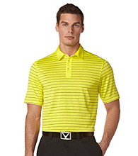 Callaway® Men's Blazing Yellow Short Sleeve Razor Mesh Stripe Polo