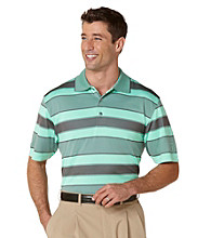 PGA TOUR® Men's Cabbage Birdseye Rugby Stripe Polo