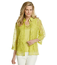 Alfred Dunner® Layered-Look Burnout Top