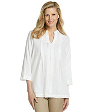 Cathy Daniels® Mandarin Splitneck Tunic Top