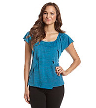 Notations® Scoopneck Asymmetrical Ruffle Top