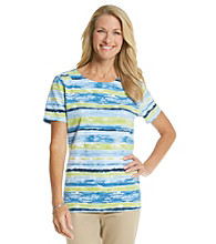 Breckenridge® Petites' Striped Tee