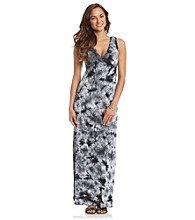 AGB® Tie-Dye Printed Maxi Dress