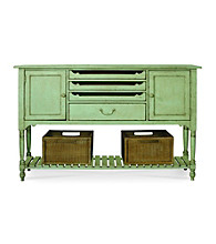 Universal® Great Rooms River Rock Finish Farmhouse Sideboard