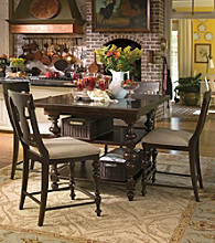 Paula Deen® Gathering Tobacco Finish Counter Height Dining Collection