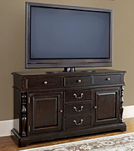"Universal Furniture® 66"" Tobacco Finish Entertainment Console"