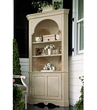 Paula Deen® Sea Oat Finish Corner Cupboard