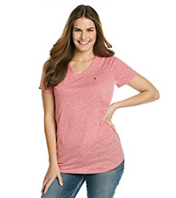 Ruff Hewn Plus Size Heather Nep V-Neck Pocket Tee
