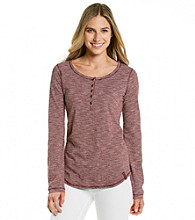 Ruff Hewn Scoopneck Striped Slub Henley Top