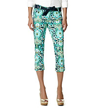 Jones New York Signature® Chelsea Floral Print Cuffed Capris