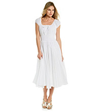 Chelsea & Theodore® Scoopneck Smocked Waist Solid Dress