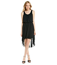 Black Rainn™ Scoopneck Hi-Low Hem Dress