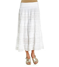 Chaudry® Foldover Cut-Out Maxi Skirt