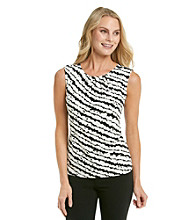Calvin Klein Pleat Neck Sketchy Stripe Print Cami