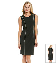 Calvin Klein Crewneck Zipper Dress