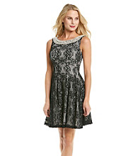 Betsey Johnson® Fit and Flare Lace Dress