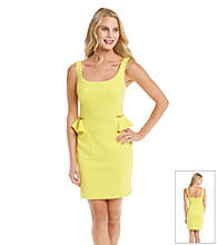 Betsey Johnson® Zipper Peplum Dress