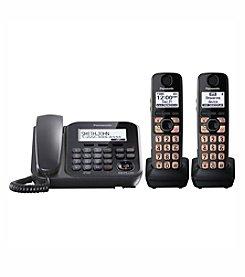 Panasonic® Dect 6.0 2-Handset, 1-Line Landline Phone and Answering System