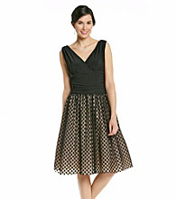 Jessica Howard® Surplice Dot Print Party Dress
