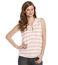 Nine West Vintage America Collection® Petites' Hawaiian Ginger Striped Tee