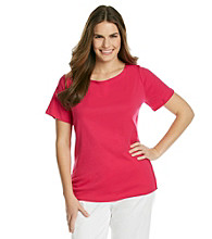 Jones New York Signature® Plus Size Boat Neck Solid Tee