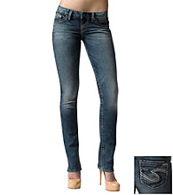 Silver Jeans Co. Berkley Straight Fit Low-Rise Straight Leg Jeans