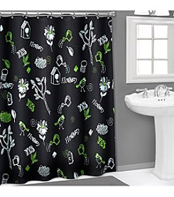 PB Home™ 3D Chalk Board PEVA Shower Curtain