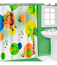 PB Home™ 3D Monkey PEVA Shower Curtain