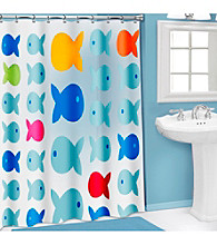 PB Home™ 3D Fish PEVA Shower Curtain