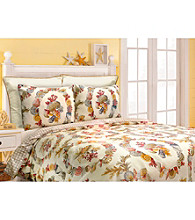 Coral Wreath Comforter Set by Scent-Sation Inc.