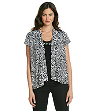 Notations® All Over Print Layered Look Top