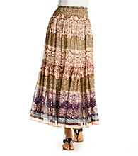 Chaudry® Purple Floral Maxi Skirt