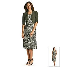 Perceptions Printed Sleeveless Dress with Coverup