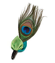 Lillian Rose® Peacock Boutonniere