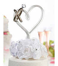 Lillian Rose® Heart with Rings Cake Pick