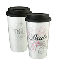Lillian Rose® 12-oz. Bride Ceramic Tumbler