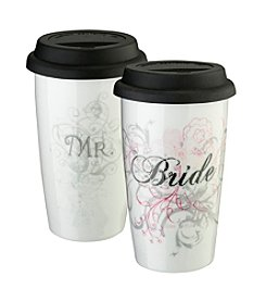 Lillian Rose® 12-0z. Mr. or Mrs. Ceramic Tumbler